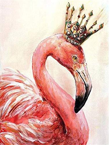 Nicole Knupfer DIY Diamant Malerei 5d Diamond Painting Pink Flamingo Stickerei Malerei Kreuzstich Wanddekoration Kristall Strass Kunst Handwerk 30 * 40cm (G)