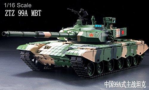 Heng Long 1/16 Scale Radio Remote Control Chinese ZTZ 99A MBT Tank Air Soft RC Battle Tank Smoke & Sound