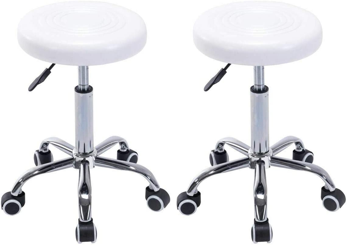 Free Shipping Cheap Bargain Gift ZeoTioo 2 Complete Free Shipping Adjustable Hydraulic Rolling Swivel Salo Facial Stools