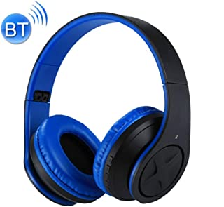 Wireless Bluetooth Headset,Rechargeable Card Playback Comfortable Design Headphones Suitable for Travel Cycling Outdoor Sports,Blue