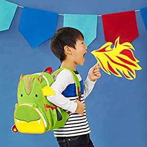 Skip Hop Toddler Backpack, Zoo Preschool Ages 2-4, Dragon