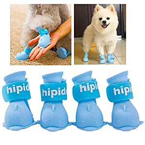 IDOSYS Waterproof Dog Boots Dog Shoes for Snow and Rain Teddy Pomeranian Bichon Middle and Small Dogs