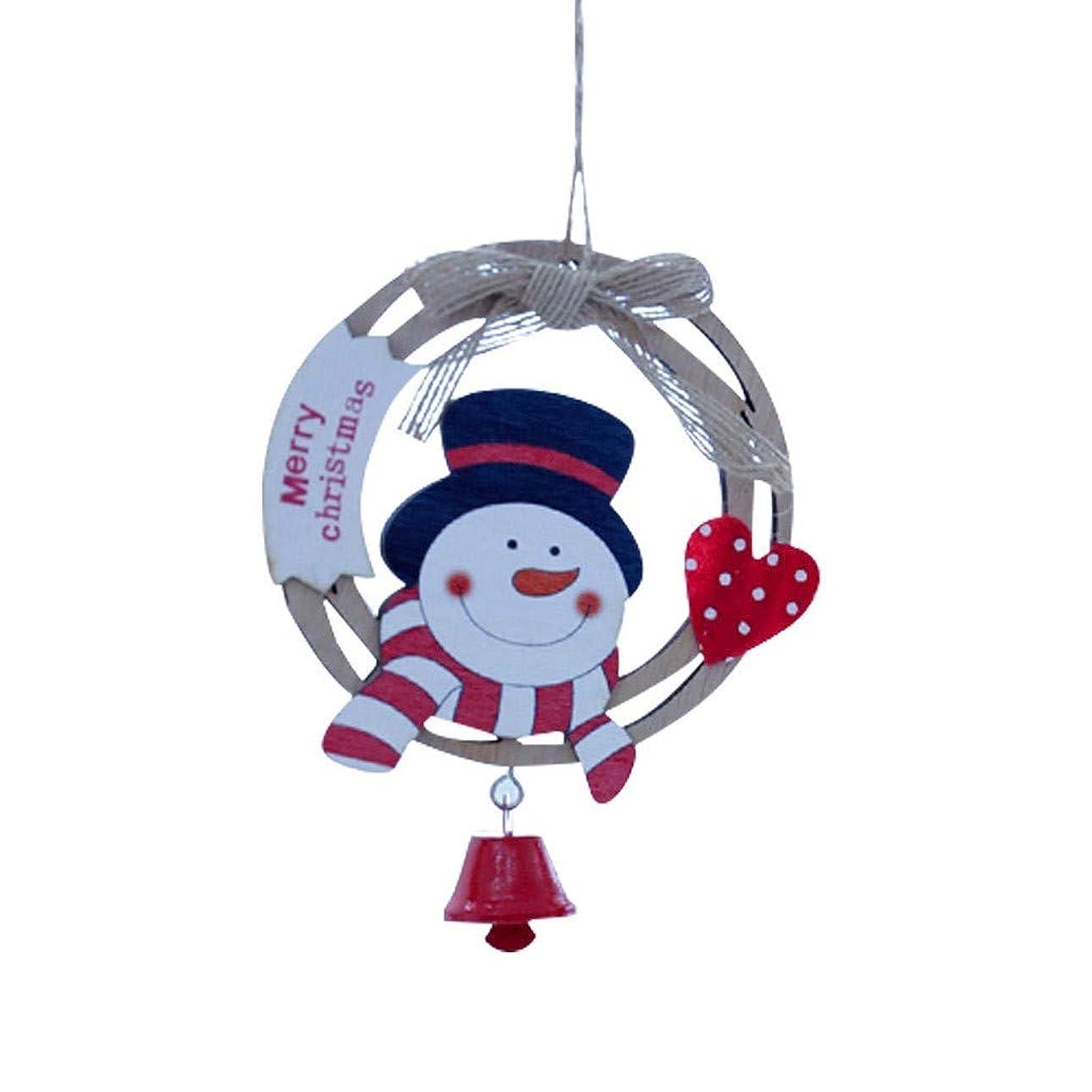 クリスマス木製老人雪だるまペンダント小さなペンダントアクセサリー装飾部品サンタクロースかわいいクリスマス装飾内壁装飾部屋の装飾クリスマス
