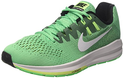 Nike Men's Air Zoom Structure 20 Electro Green Synthetic Leather Running Shoes 11.5