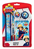 Undercover FSTU0211 - Feuerwehrmann Sam Schreibset mit Bleistift, Radierer, Spitzer, Lineal und...
