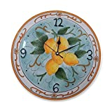 Orologio da parete in Ceramica Limoni di Sicilia 28x28 cm