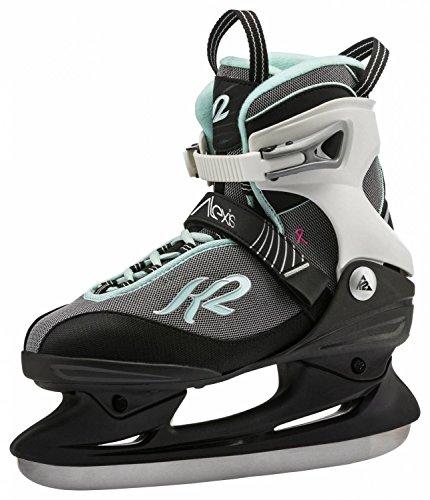 K2 Complete Alexis Speed Ice 10 ijshockeyschoenen, 5 stuks, zwart/wit/mint, maat 10,5