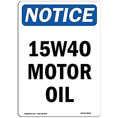 Ditooms Kennisbord 15w40 Motorolie Aluminium stijve kunststof of Vinyl Label Decal Aluminium Metalen Tin 12