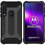 iMoshion Motorola One Macro Hülle – Rugged Xtreme Back Cover Handyhülle – Outdoor Hülle Schutzhülle in Schwarz
