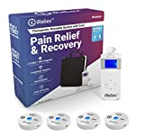 iReliev Wireless TENS + EMS Therapeutic Wearable System Wireless TENS Unit + Muscle Stimulator Combination for Pain Relief, Arthritis, Muscle Strength, Case & 4 Receiver Pods