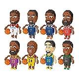 Bloques De Construcción NBA Estrella De Baloncesto Building Blocks Juguete Educativo del Rompecabezas Set De Recuerdo Modelo Lakers Juguetes Educativos Perfectos Regalo para Adultos Niños