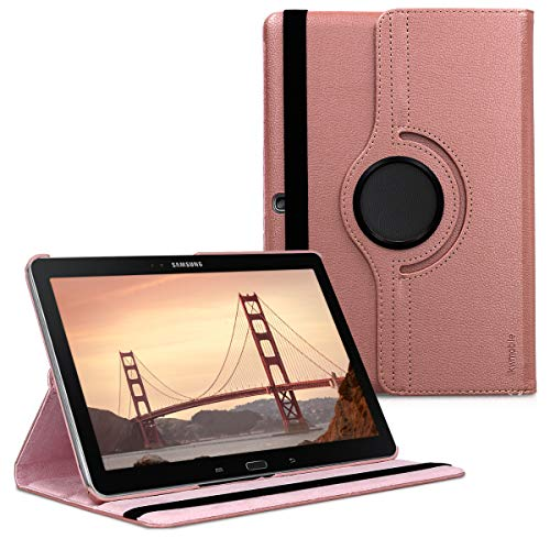 kwmobile Hülle kompatibel mit Samsung Galaxy Note 10.1 2014 Edition - 360° Tablet Schutzhülle Cover Hülle Rosegold
