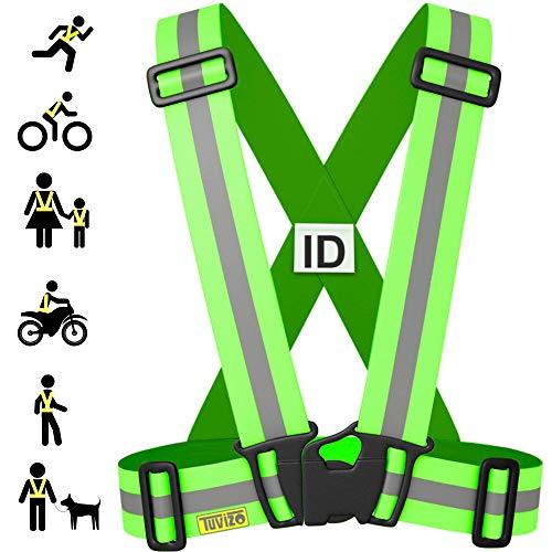 Tuvizo Warnweste Fahrrad | Reflektoren Fahrrad | Sicherheitweste für Laufen - Komfortables Reflektorband für hohe Sicherheit und Visibilität (Gelb, Kinder)