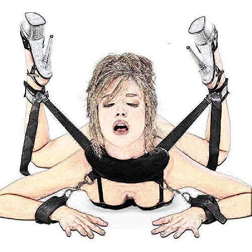ZHANGNUO Babydoll Lingerie Sexy Hot Erotic Langerie Esposas Almohada para El Cuello Tobillo Puño Kit Lingerie Porn Disfraces Sexy Lenceria Mujer Beige