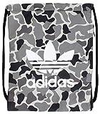 adidas Originals Unisex Trefoil Sackpack, Camo Aop Carbon/Black/White, ONE SIZE