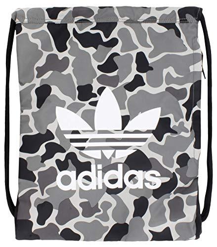 adidas Originals - Mochila de trébol unisex, diseño de camuflaje Aop carbono/negro/blanco, talla única