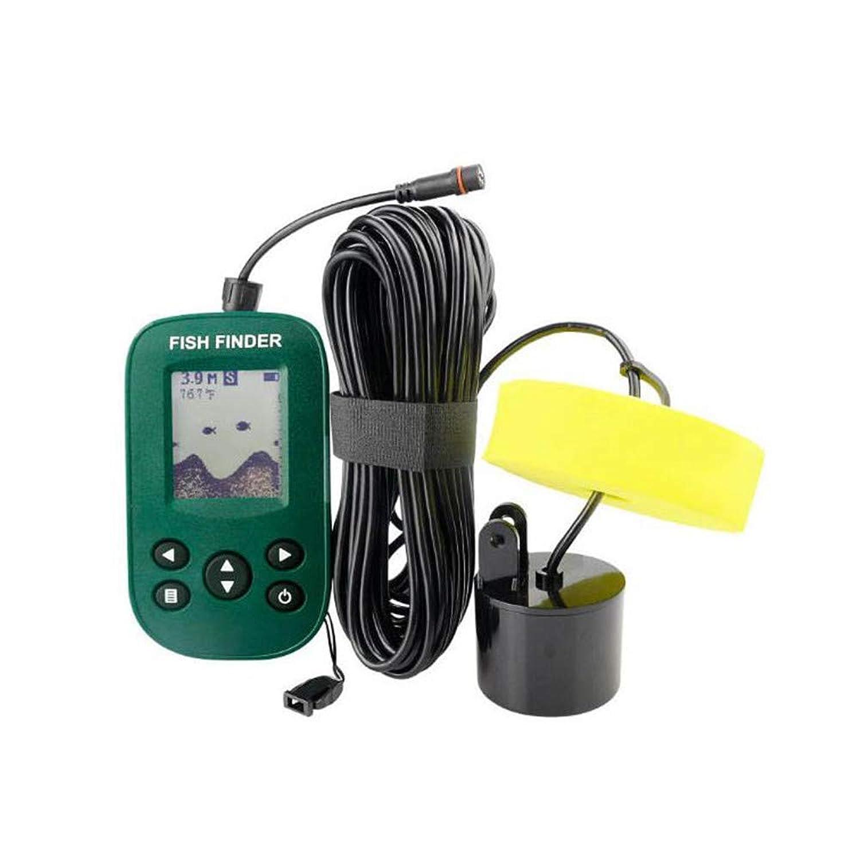 釣りカヤック湖の海のボートを釣りのためのソナーセンサーと液晶ディスプレイ付きの魚群探知機、ハンドヘルド水中釣りトラッカー、。