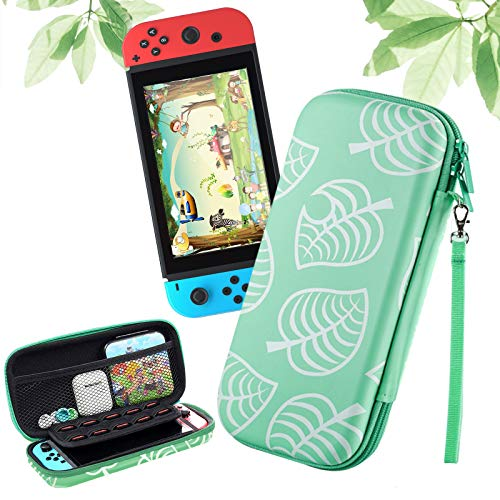 Haobuy Funda para Nintendo Switch, Slim Carry Case Protector Carcasa para Switch [para Animal: New Horizons], Silicona PU Funda Portátil Delgada de Almacenamiento para Nintendo Switch -Verde