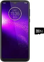 "Motorola One Macro (64GB, 4GB) 6.2"", Macro Vision Camera (5X Closer) Dual SIM GSM Unlocked (at&T/T-Mobile/MetroPCS/Cricket/H2O) XT2016-2 International Model (Space Blue, 64GB + 64GB SD + Case Bundle)"