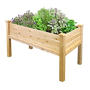 Greenes Fence Elevated Garden Bed, 48  L x 24  W x 31 , Cedar
