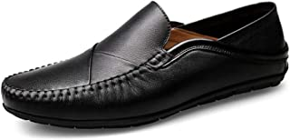 Xujw-shoes, Solid Colors Black Withe Driving Loafers for Men PU Leather Boat Moccasins Slip On Style Simple Lightweight Flexible Low Top Breathable Simple Stylish