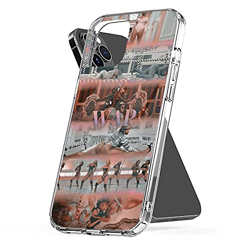 Case Cover Cardi Clear B Funny Wap Pc Songs TPU Aesthetic Waterproof Illustration Collage Art Compatible for iPhone 6 6s 7 8 X Xr Xs 11 12 Pro Max Plus Se 2020