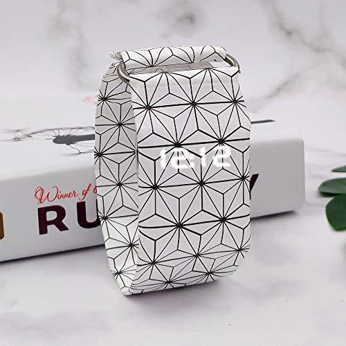 Frauen-Mädchen-Armbanduhr-Papier Führte Wasserdichte Uhr Für Frauen Einfaches Fahion Beiläufiges Kreatives Cube