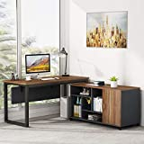 Tribesigns L-Shaped Computer Desk with 47 Inch Mobile File Cabinet, Large L Computer Office Desk with Storage Shelves, Modern Business Furniture with Printer Filing Stand for Home Office