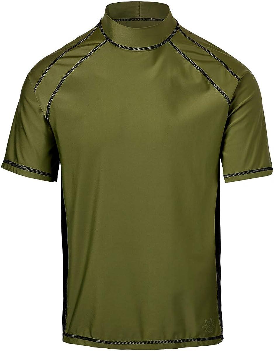 UV Skinz UPF 50+ Mens Short Sleeve Active Sun & Swim Shirt