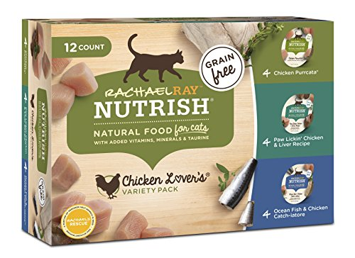 Rachael Ray Nutrish Wet Cat Food, Chicken Lovers Variety Pack, Grain Free, 2.8 Oz. Tub, Pack Of 12