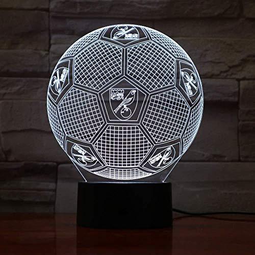 3D Illusion Nachtlicht Bluetooth Smart Control 7 & 16M Farbe Mobile App Led Vision Engl Fußball Team Schreibtisch Luminary Football bunte kreative Geschenk