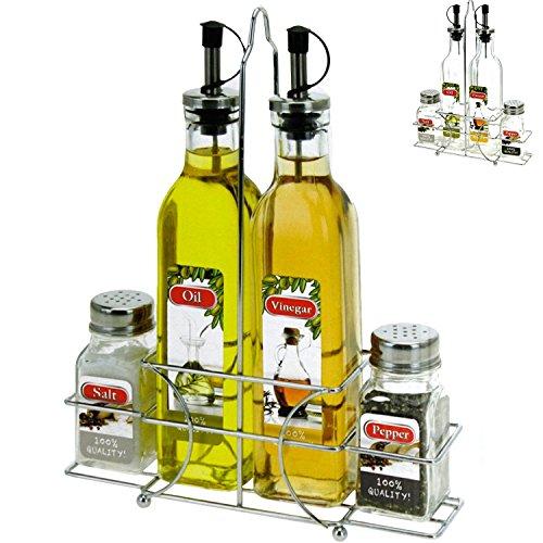 Vinagre y Aceite dispensador de pimienta Juego de salero mesa ...