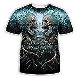 3D Camisetas Para Hombre,Camiseta Con Estampado De Calavera Esqueleto Para Hombre, Moda De Verano, Camisetas De Manga Corta Con Cuello Redondo En 3D, Ropa De Calle Hip Hop De Manga Corta Par