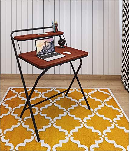 ETTOREZ Multi-Purpose Computer Folding Table 2-Style Folding Desk for Small Space Study Desk, Adjustable Portable Study Table Home Office Desk Simple Laptop Writing Table (WFH)