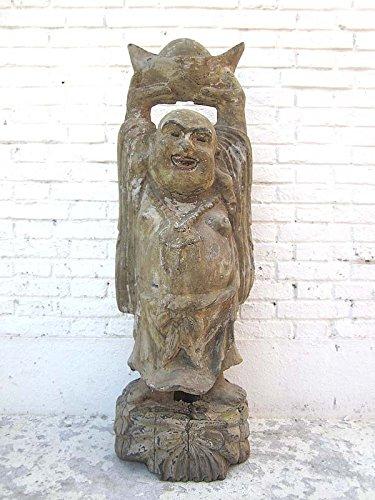 Bouddha avec couronne de chine sculpture statue figurine de peuplier luxury park 90 ans