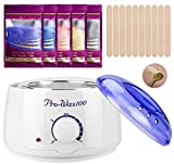 Wax Warmer Hair Removal Home Waxing Kit with 5 Flavors Stripless Hard Wax Beans(14.1oz)20 Wax Sticks for Full Body, Legs, Face, Eyebrows, Bikini Women Men Painless at Home Waxing