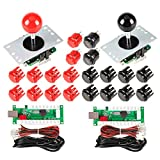 EG STARTS 2 jugadores Arcade Game Kit Piezas USB Pc Joystick para Mame Game DIY USB Encoder + 2x 8...