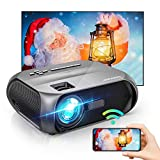Bomaker Vidéoprojecteur WiFi,Supporte 1080P Full HD Projecteur Portable 6000 Rétroprojecteur Portable Multimédia Home Cinéma Outdoor Film pour iPhone/iPad/Android/TV Stick/PS4/HDMI/VGA/AV/USB
