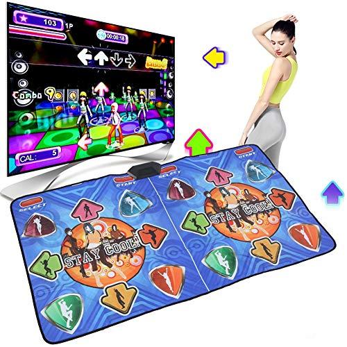Alomejor Dance Pad Doppelspieler Tanzmatte High Definition Tanzmatte mit USB für PC Television Interface Computer(Europäische Vorschriften)