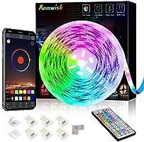 LED Strip Lights 20ft, Bluetooth Control RGB Color Changing Smart LED Light Strip, 44 Keys IR Remote, Sync to Music,...