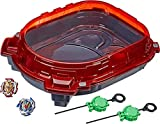 N/V Thickening Blasting Gyro Toy Fighting Disc Exciting Duel Spinning Gyro Stadium Arena for Burst Gyro Toys Red