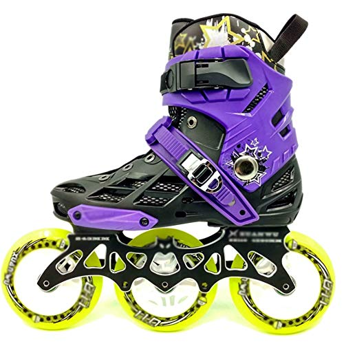 XYZCUP Roller Skates Women/The Man Roller Blades Adult Anti-Collision, Wear-Resistant, Breathable, Comfortable Inline Skates Speed Skates Roller Skates,Purple,41