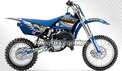 Kungfu Graphics Custom Decal Kit for Yamaha YZ85 2002 2003 2004 2005 2006 2007 2008 2009 2010 2011 2012 2013 2014, Blue, Style 001