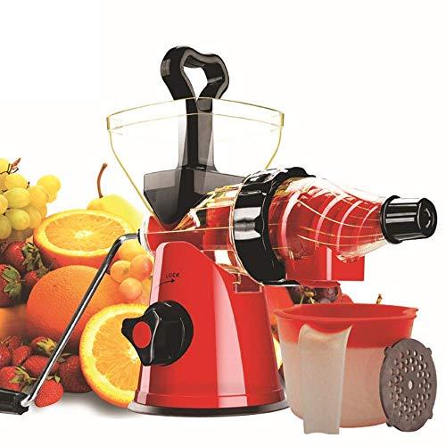Máquina de Máquinas JuicerJuicer, exprimidor de masticación lenta con motor silencioso, cerradura segura, función de reserva, fácil de limpiar, con recetas para múltiples zumos de nutrientes altos, ro