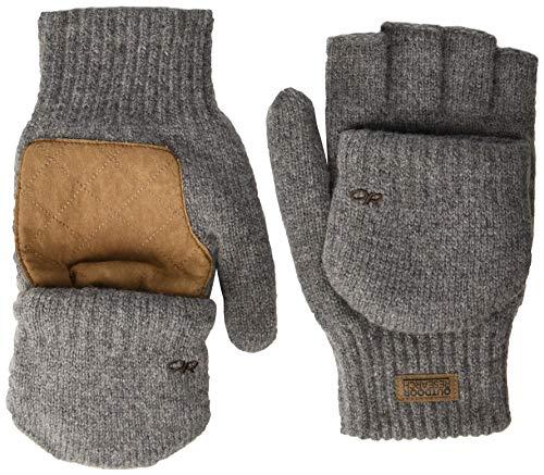 Outdoor Research Lost Coast Fingerlose Handschuhe für Herren, Zinn, Größe M