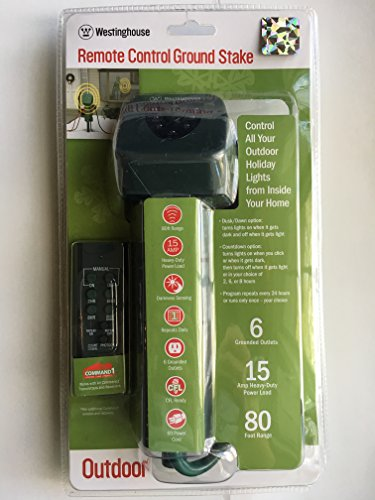Westinghouse Outdoor 6-Outlet Ground Stake with Programmable & Photocell Timers