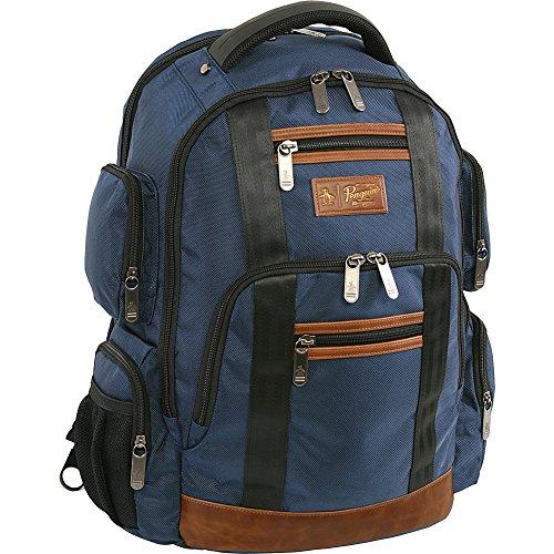 Original Penguin Unisex-Erwachsene Peterson Backpack Fits Most 15-inch Laptop and Notebook Rucksack, Navy, Einheitsgröße