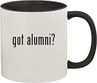 got alumni? - 11oz Ceramic Colored Inside & Handle Coffee Mug, Black