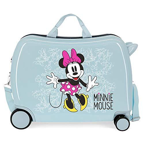 Disney Minnie Enjoy The Day Maleta Infantil Azul 50x38x20 cms Rígida ABS Cierre combinación 34L 2,1Kgs 4 Ruedas Equipaje de Mano