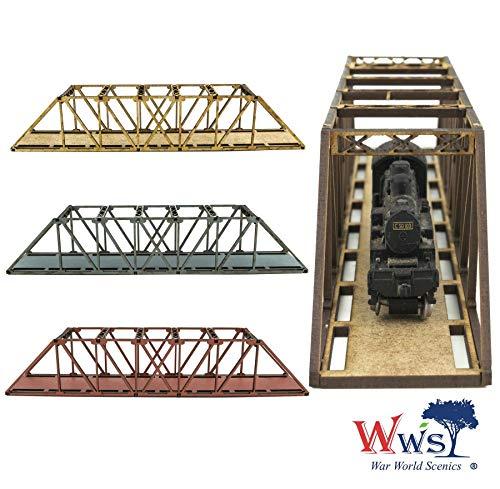 War World Scenics Einspurige Spur N Balkenbrücke 200mm (Farbe wählen) - Modellbahn Modellbau Modelleisenbahn Modell Diorama Layout Brücke Eisenbahn Bahnanlage